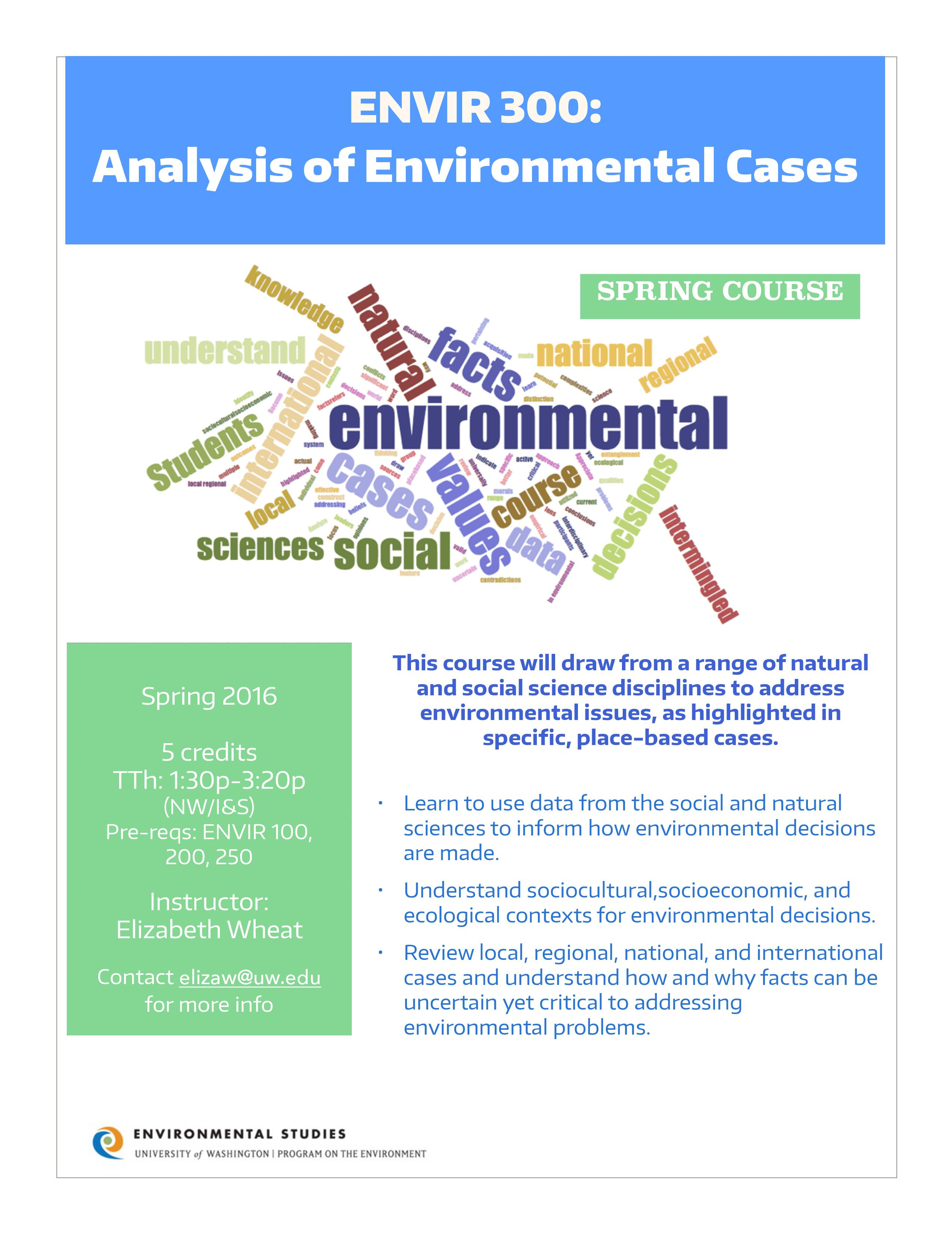 environment studies This world environment day the society for the environment (socenv) presented the environmental professional of the year 2018 award to.