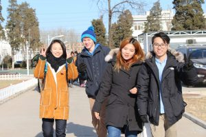 UW students (left to right) Congshan Amanda Bai, TJ Gascho, Yushan Tong, and Shunxi Liu