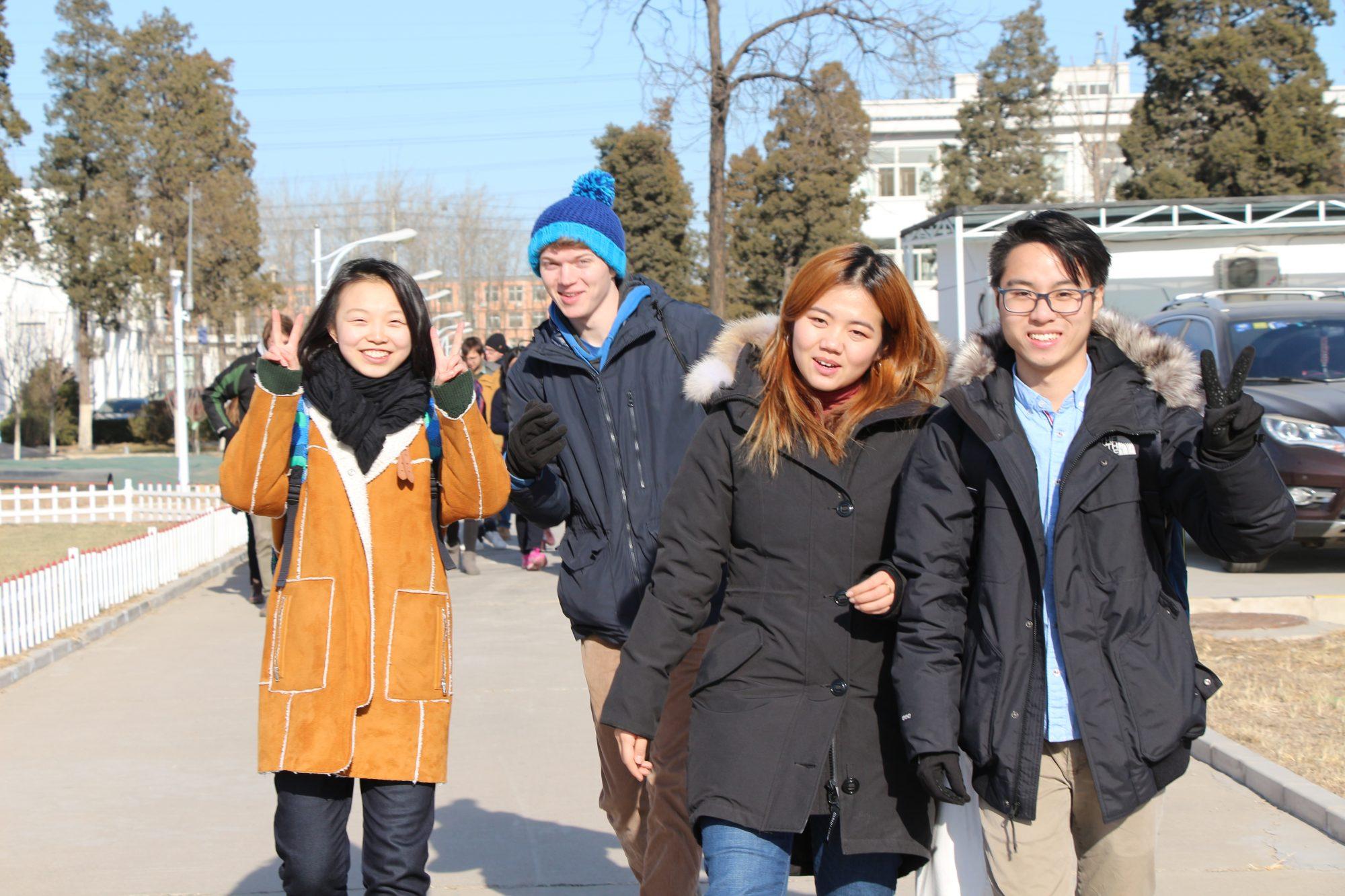 UW students (left to right) Congshan Amanda Bai, TJ Gascho, Yushan Tong, and Shunxi Liu