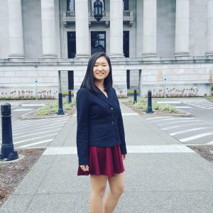 Joy Shang, UW student and policy intern at WA State Parks Foundation.